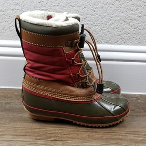 Lands End lined winter duck boots